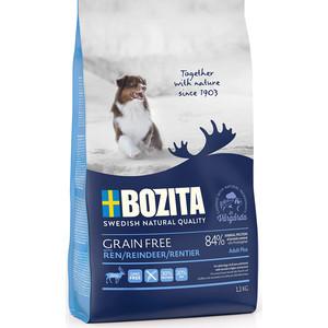 Сухой корм BOZITA Grain Free Adult Plus with Reindeer 30/20 беззерновой с мясом оленя для взрослых собак 1,1кг (40712)