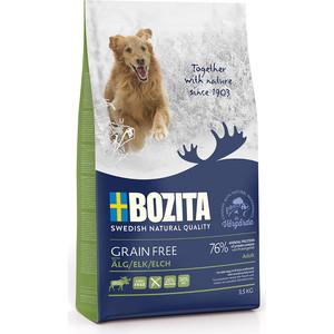 Сухой корм BOZITA Grain Free Adult with Elk 26/16 беззерновой с мясом лося для взрослых собак 3,5кг (40823)