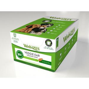 Лакомство Whimzees Veggie ear Bulk In Display Box Вегетарианское ухо для собак 18см 18шт в коробке (WHZ209ROW)