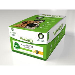 Лакомство Whimzees Alligator M Bulk In Display Box Крокодильчик для собак М 9см 75шт в коробке (WHZ220ROW)