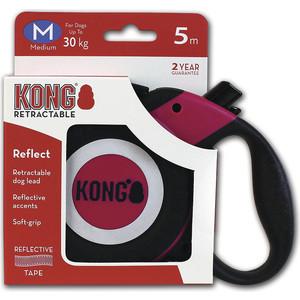Рулетка KONG Reflect M лента 5м фуксия для собак до 30кг