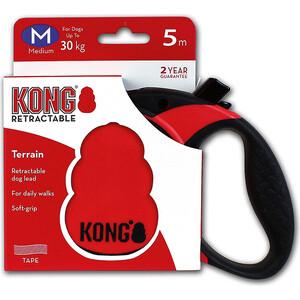 Рулетка KONG Terrain M лента 5м красная для собак до 30кг