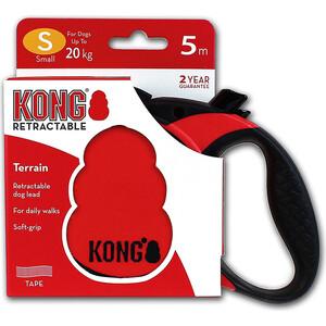 Рулетка KONG Terrain S лента 5м красная для собак до 20кг