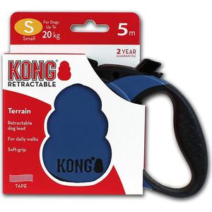 Рулетка KONG Terrain S лента 5м синяя для собак до 20кг