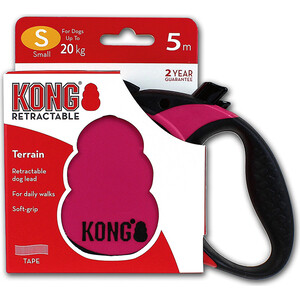 Рулетка KONG Terrain S лента 5м фуксия для собак до 20кг