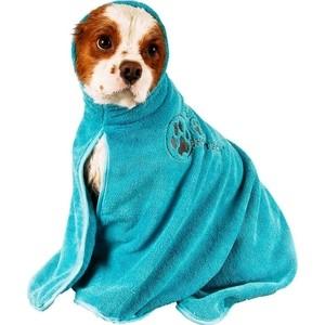 Полотенце-попона Show Tech из микрофибры бирюзовое размер M для собак