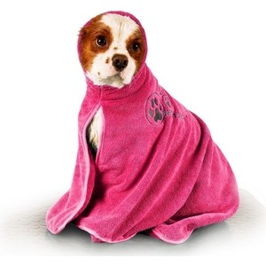 Полотенце-попона Show Tech из микрофибры розовое размер S для собак полотенце из микрофибры для животных deni style красно розовое 70х140см