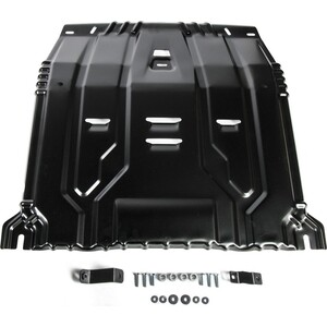 Защита картера и КПП Rival для Hyundai Santa Fe (2018-н.в.) / Tucson (2015-н.в.) Kia Sportage IV Sorento Prime III (2015-н.в.), сталь 2 мм, 111.2375.1