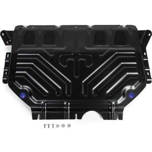 Защита картера и КПП Rival для Skoda Kodiaq (с Webasto) (2017-н.в.) / Volkswagen Tiguan II (2017-н.в.), сталь 2 мм, 111.5120.2