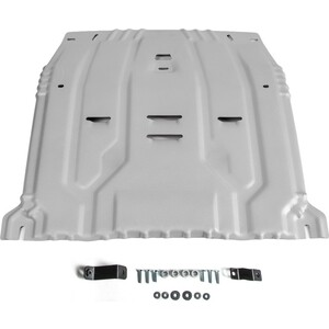 Защита картера и КПП Rival для Hyundai Santa Fe IV (2018-н.в.) / Tucson (2015-н.в.) Kia Sportage Sorento Prime (2015-н.в.), алюминий 4мм, 333.2375.1