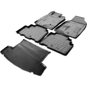 Комплект ковриков салона и багажника Rival для Chevrolet Captiva I рестайлинг 5-дв. (5 мест) (2011-2016), полиуретан, K11007003-1