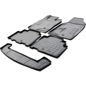 Комплект ковриков салона и багажника Rival для Chevrolet Captiva I рестайлинг 5-дв. (7 мест) (2011-2016), полиуретан, K11007004-1