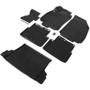 Комплект ковриков салона и багажника Rival для Chevrolet Cobalt II седан (2012-2015) / Ravon R4 седан (2016-н.в.), полиуретан, K11002002-1