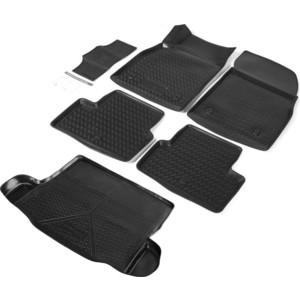 Комплект ковриков салона и багажника Rival для Chevrolet Cruze I седан (2009-2015), полиуретан, K11003003-1
