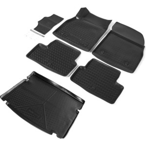 Комплект ковриков салона и багажника Rival для Chevrolet Cruze I хэтчбек (2011-2015), полиуретан, K11003002-1