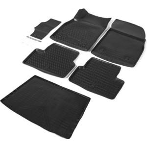 Комплект ковриков салона и багажника Rival для Chevrolet Cruze I рестайлинг универсал (2012-2015), полиуретан, K11003004-1