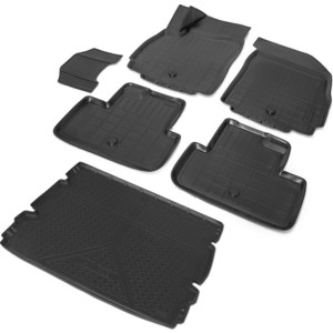 Комплект ковриков салона и багажника Rival для Chevrolet Orlando компактвэн (5 мест) (2011-2015), полиуретан, K11005003-1
