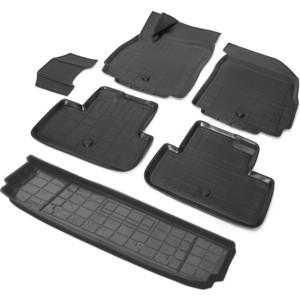 Комплект ковриков салона и багажника Rival для Chevrolet Orlando компактвэн (7 мест) (2011-2015), полиуретан, K11005004-1