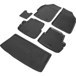 Комплект ковриков салона и багажника Rival для Chevrolet Spark III хэтчбек 5-дв. (2009-2016) / Ravon R2 хэтчбек 5-дв. (2016-н.в.), полиуретан, K11006002-1 коврик багажника rival для chevrolet cruze хэтчбек 2011 полиуретан 1 шт 11003002
