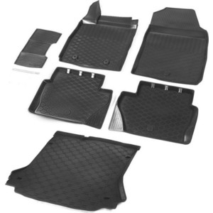 Комплект ковриков салона и багажника Rival для Ford Ecosport 5-дв. (2013-2018), полиуретан, K11803001-2