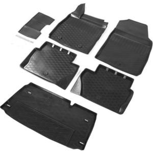 Комплект ковриков салона и багажника Rival для Ford Ecosport I рестайлинг 5-дв. (2018-н.в.), полиуретан, K11803003-1