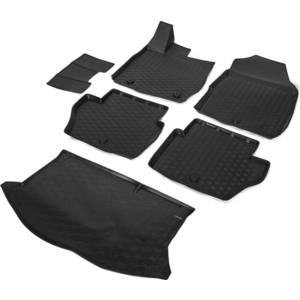Комплект ковриков салона и багажника Rival для Ford Fiesta VI хэтчбек (2015-н.в.), полиуретан, K11805002-1