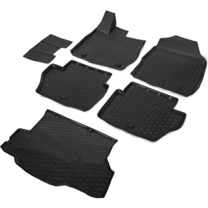 Комплект ковриков салона и багажника Rival для Ford Fiesta VI седан (2015-н.в.), полиуретан, K11805003-1
