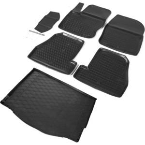 Комплект ковриков салона и багажника Rival для Ford Focus III хэтчбек (2011-2019), полиуретан, K11801005-3