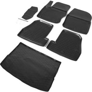 Комплект ковриков салона и багажника Rival для Ford Focus III универсал (2011-2019), полиуретан, K11801006-3
