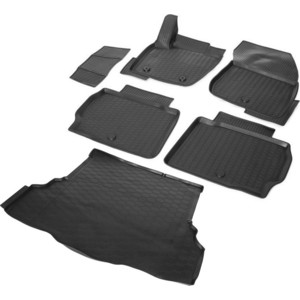 Комплект ковриков салона и багажника Rival для Ford Mondeo V седан (2015-н.в.), полиуретан, K11802002-1