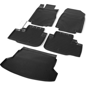 Комплект ковриков салона и багажника Rival для Honda CR-V IV 5-дв. (2012-2015), полиуретан, K12101002-1