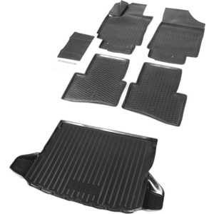 Комплект ковриков салона и багажника Rival для Hyundai Creta 5-дв. (2016-н.в.), полиуретан, без крепежа, K12310001-2 фото