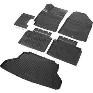 Комплект ковриков салона и багажника Rival для Hyundai Elantra VI седан (2016-2019 / 2019-н.в.), полиуретан, без крепежа, K12301002-1 цена