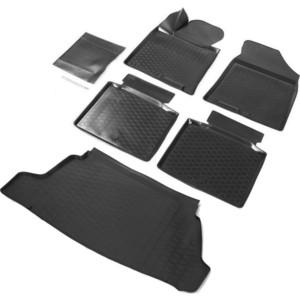 Комплект ковриков салона и багажника Rival для Hyundai i40 седан (2011-2017), полиуретан, без крепежа, K12303002-1
