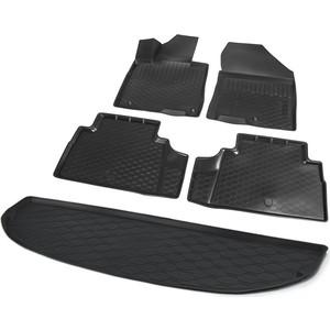 Комплект ковриков салона и багажника Rival для Hyundai Santa Fe IV 5-дв. (7 мест, разложеный 3 ряд) (2018-н.в.), полиуретан, без крепежа, K12306008-5