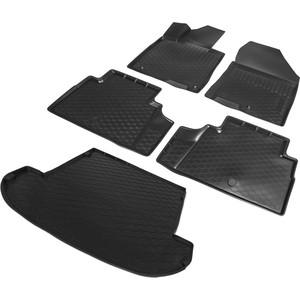 Комплект ковриков салона и багажника Rival для Hyundai Santa Fe IV 5-дв. (7 мест, сложенный 3 ряд) (2018-н.в.), полиуретан, без крепежа, K12306007-5
