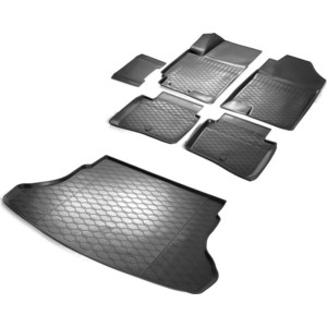 цена на Комплект ковриков салона и багажника Rival для Hyundai Solaris II седан (2017-н.в.) / Kia Rio IV седан (2017-н.в.), полиуретан, без крепежа, K12305007-8