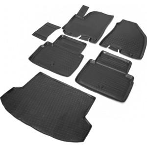 Комплект ковриков салона и багажника Rival для Jac S5 5-дв. (2013-н.в.), полиуретан, K19201002-1