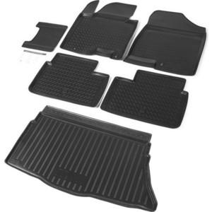 Комплект ковриков салона и багажника Rival для Kia Ceed II хэтчбек 3/5-дв. (2012-2018), полиуретан, без крепежа, K12801001-3