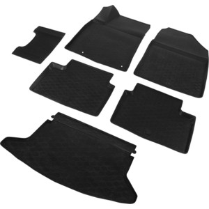 Комплект ковриков салона и багажника Rival для Kia Ceed III хэтчбек 5-дв. (кроме Premium, Premium+) (2018-н.в.), полиуретан, без крепежа, K12801005-6