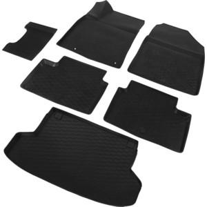 Комплект ковриков салона и багажника Rival для Kia Ceed III универсал (кроме Premium, Premium+) (2018-н.в.), полиуретан, без крепежа, K12801007-6