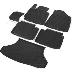 Комплект ковриков салона и багажника Rival для Kia Cerato III седан (2013-2018) / Cerato III Classic седан (2018-н.в.), полиуретан, без крепежа, K12802002-1 цена
