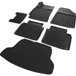 Комплект ковриков салона и багажника Rival для Kia Cerato IV седан (2018-н.в.), полиуретан, без крепежа, K12802003-4