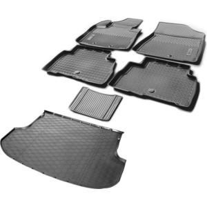 Комплект ковриков салона и багажника Rival для Kia Sorento II рестайлинг 5-дв. (2012-н.в.), полиуретан, без крепежа, K12804003-1