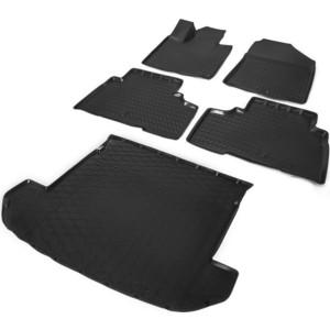 Комплект ковриков салона и багажника Rival для Kia Sorento Prime III 5-дв. (7 мест, сложенный 3 ряд) (2015-2017 / 2017-н.в.), полиуретан, без крепежа, K12804002-4