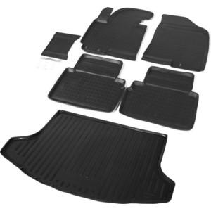 Комплект ковриков салона и багажника Rival для Kia Sportage III 5-дв. (2010-2016), полиуретан, без крепежа, K12805001-2