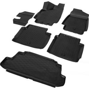 Комплект ковриков салона и багажника Rival для Lada 4х4 2121 3-дв. (1995-н.в.), полиуретан, K16005001-4