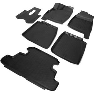 Комплект ковриков салона и багажника Rival для Lada 4х4 2131 5-дв. (1995-н.в.), полиуретан, K16005002-3