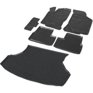 Комплект ковриков салона и багажника Rival для Lada Granta седан (2011-2018 / 2018-н.в.), полиуретан, K16001001-2