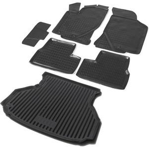Комплект ковриков салона и багажника Rival для Lada Granta лифтбек (2014-2018 / 2018-н.в.), полиуретан, K16001001-3
